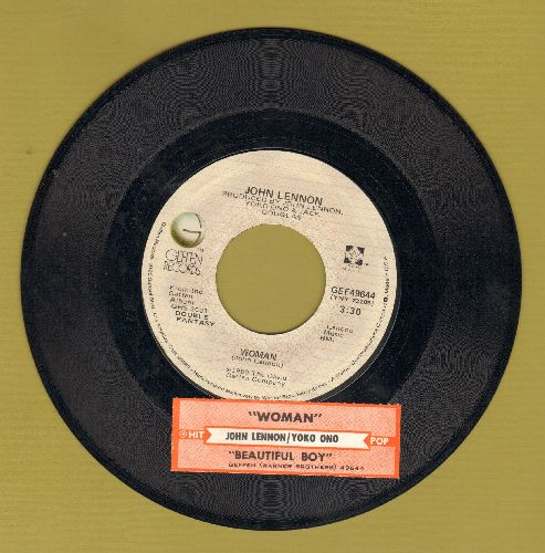 Lennon, John - Woman/Beautiful Boys (by Yoko Ono) (with juke box label) - EX8/ - 45 rpm Records