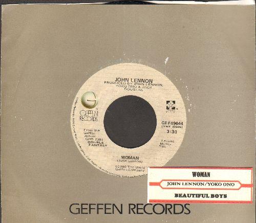 Lennon, John - Woman/Beautiful Boys (by Yoko Ono) (with Geffen company sleeve) - EX8/ - 45 rpm Records