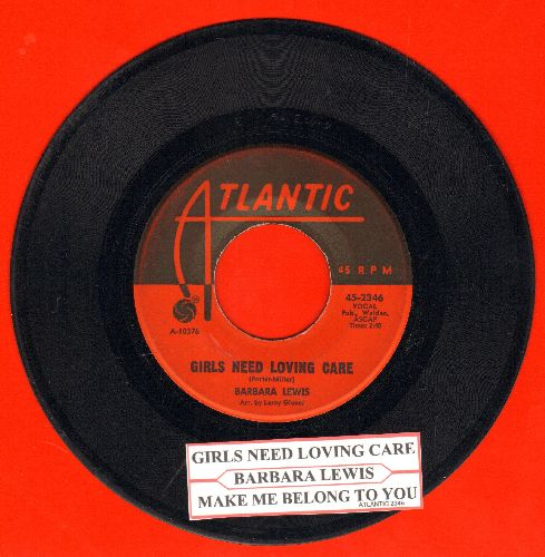Lewis, Barbara - Make Me Belong To You/Girls Need Loving Care (with juke box label) - EX8/ - 45 rpm Records