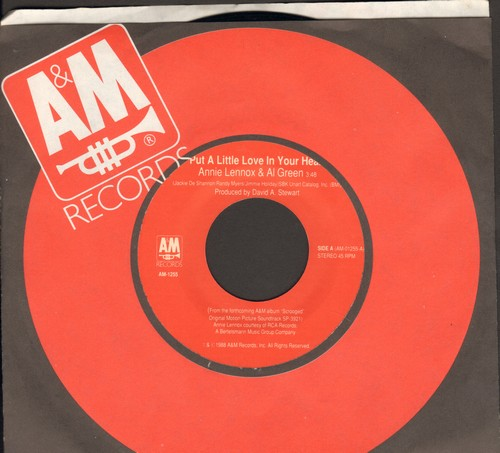 Lennox, Annie & Al Green - Put A Little Love In Your Heart/ The Spheres Of Celestial Influnce (with A&M company sleeve) - NM9/ - 45 rpm Records
