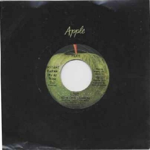 Lennon, John - Instant Karma (We All Shine On)/Who Has Seen The Wind (with Apple company sleeve) - EX8/ - 45 rpm Records