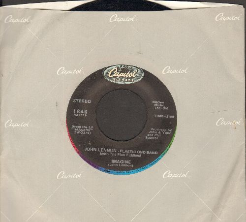 Lennon, John - Imagine/It's So Hard (re-issue with Capitol company sleeve) - NM9/ - 45 rpm Records