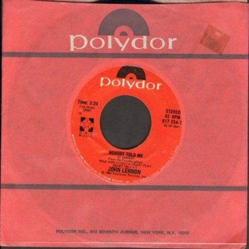 Lennon, John - Nobody But Me/O' Sanity (by Yoko Ono on flip-side) - M10/ - 45 rpm Records