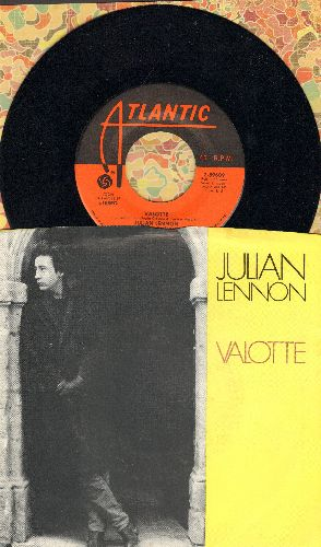 Lennon, Julian - Valotte/Well I Don't Know (with picture sleeve) - NM9/EX8 - 45 rpm Records