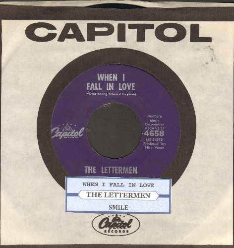 Lettermen - When I Fall In Love/Smile (with juke box label and vintage Capitol company sleeve) - NM9/ - 45 rpm Records