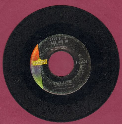 Lewis, Gary & The Playboys - Save Your Heart For Me/Without A Word Of Warning  - vg7/ - 45 rpm Records