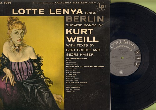 Lenya, Lotte - Lotte Lenya Sings Berlin Theatre Songs by Kurt Weill: Moritat, Bilbao, Barbara-Song, Seerauber Jenny (Vinyl MONO LP record, gate-fold cover) - NM9/EX8 - LP Records
