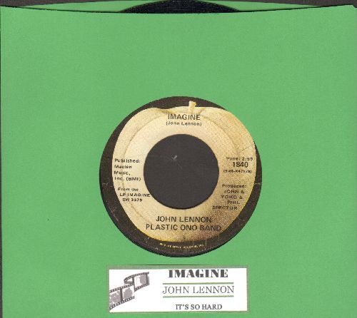 Lennon, John - Imagine/It's So Hard (with juke box label) - VG7/ - 45 rpm Records