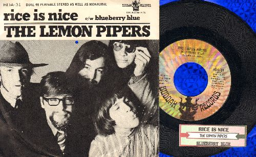 Lemon Pipers - Rice Is Nice/Blueberry Blue (with RARE picture sleeve and juke boc label) - NM9/EX8 - 45 rpm Records