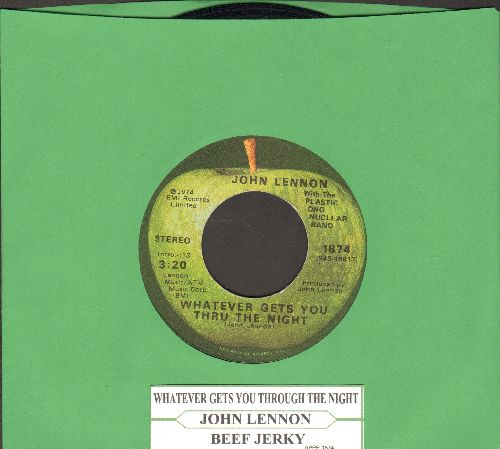 Lennon, John - Whatever Gets You Through The Night/Beef Jerky (with juke box label) - VG7/ - 45 rpm Records