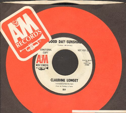 Longet, Claudine - Good Day Sunshine/The Look Of Love (DJ advance pressing with A&M company sleeve) - EX8/ - 45 rpm Records