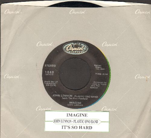 Lennon, John - Imagine/It's So Hard (re-issue with Capitol company sleeve and juke box label) - NM9/ - 45 rpm Records