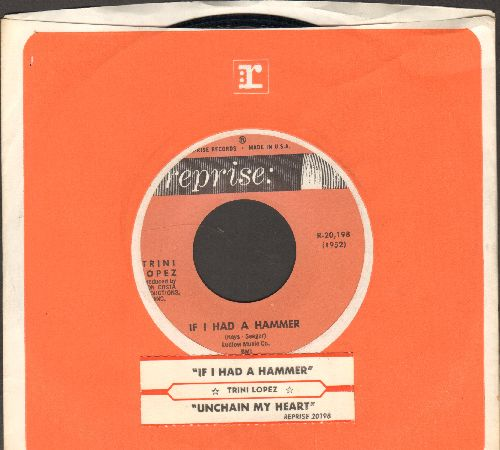 Lopez, Trini - If I Had A Hammer/Unchain My Heart (with juke box label and Reprise company sleeve) - NM9/ - 45 rpm Records