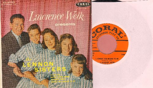 Lennon Sisters - Lawrence Welk Presents The Lennon Sisters: Tonight You Belong To Me/Mickey Mouse Mambo/Allegheny Moon/Hi! To You (Vinyl EP record with picture cover) - NM9/EX8 - 45 rpm Records