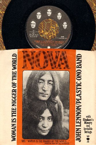 Lennon, John & Plastic Ono Band - Woman Is The Ni**er Of The World/Sisters O Sisters (with RARE picture sleeve) - M10/VG7 - 45 rpm Records