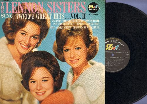 Lennon Sisters - Twelve Great Hits…Vol. II: Tammy, You Made Me Love You, Goodnight Sweetheart, Sentimental Journey (Vinyl MONO LP record) - EX8/EX8 - LP Records