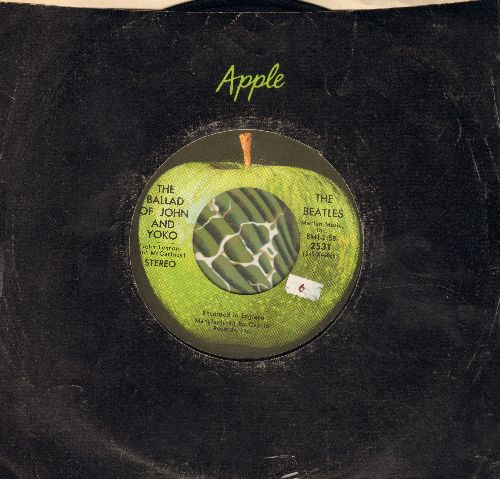 Beatles - Ballad Of John And Yoko/Old Brown Shoe (with Apple company sleeve) - EX8/ - 45 rpm Records