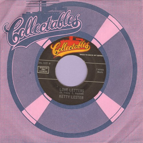 Lester, Ketty - Love Letters/Tell It Like It Is (by Aaron Neville on flip-side) (double-hit re-issue) - EX8/ - 45 rpm Records