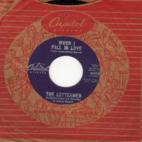 Lettermen - When I Fall In Love/Smile (with vintage Capitol company sleeve) - EX8/ - 45 rpm Records