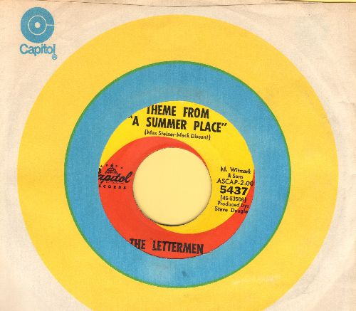 Lettermen - Theme From A Summer Place/Sealed With A Kiss (with Capitol company sleeve) - EX8/ - 45 rpm Records