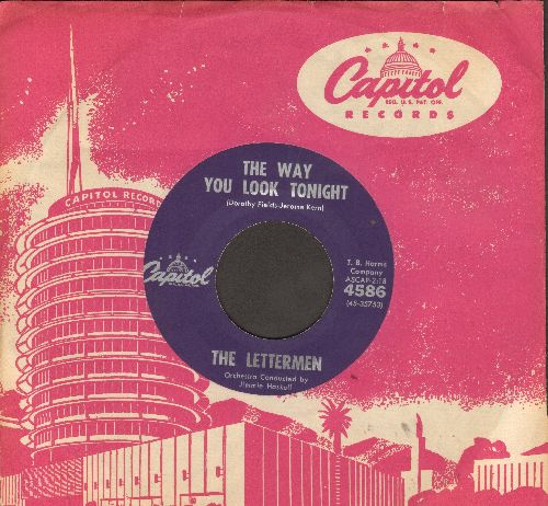 Lettermen - The Way You Look Tonight/That's My Desire (purple label first pressing with Capitol company sleeve, NICE condition!) - VG7/ - 45 rpm Records
