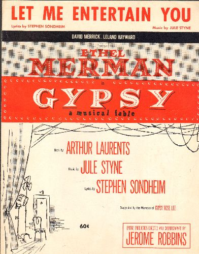 Merman, Ethel - Let Me Entertain You - Vintage SHEET MUSIC for the song featured in Broadway's -Gypsy- - EX8/ - Sheet Music