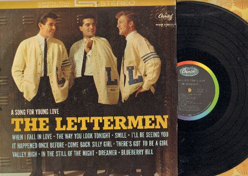 Lettermen - A Song For Young Love: When I Fall In Love, The Way You Look Tonight, Blueberry Hill, In The Still Of The Night (Vinyl STEREO LP record) - NM9/EX8 - LP Records