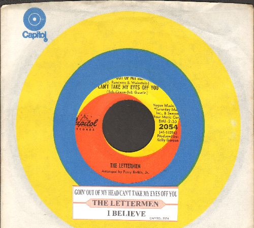 Lettermen - Goin' Out Of My Head/Can't Take My Eyes Off You/I Believe (with juke box label and Capitol company sleeve) - NM9/ - 45 rpm Records