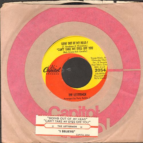 Lettermen - Goin' Out Of My Head/Can't Take My Eyes Off You/I Believe (with juke box label and Capitol company sleeve) - VG7/ - 45 rpm Records