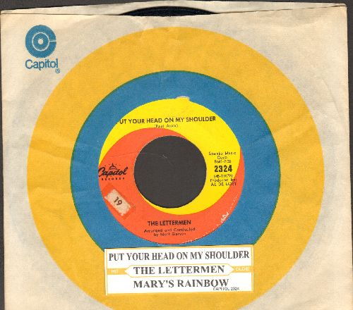 Lettermen - Put Your Head On My Shoulder/Mary's Rainbow (with juke box label and Capitol company sleeve) - EX8/ - 45 rpm Records