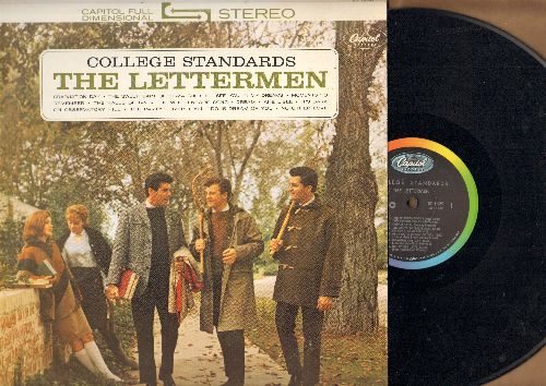 Lettermen - College Standards: Graduation Day, I'll See You In My Dreams, Moments To Remember, The Halls Of Ivy, The Party's Over (vinyl STEREO LP record) - EX8/EX8 - LP Records