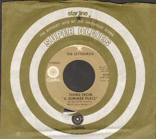 Lettermen - Theme From A Summer Place/Somewhere, My Love (re-issue with company sleeve) - NM9/ - 45 rpm Records