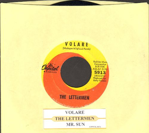 Lettermen - Volare/Mr. Sun (with juke box label) - EX8/ - 45 rpm Records