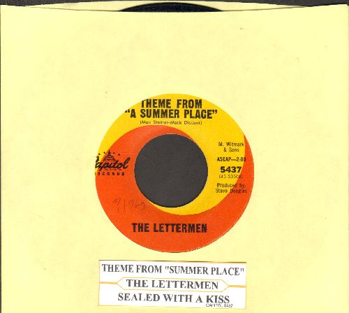 Lettermen - Theme From A Summer Place/Sealed With A Kiss (with juke box label) - EX8/ - 45 rpm Records