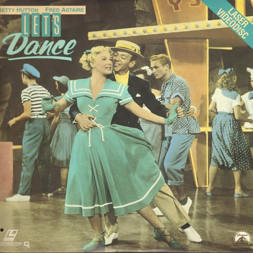 Let's Dance - Let's Dance - LASERDISC version of the Hollywood Classic starring Betty Hutton and Fred Astaire (this is a LASERDISC, not any other kind of media!) - NM9/EX8 - LaserDiscs