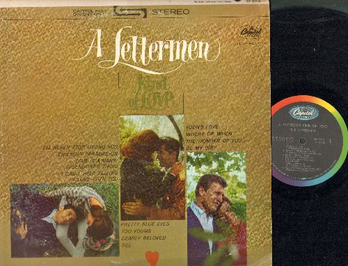 Lettermen - A Lettermen Kind Of Love: Friendly Persuasion, Young Love, Where Or When, Pretty Blue Eyes, Till, Too Young, Love Is A Many-Splendored Thing (Vinyl STEREO LP record, GERMAN pressing) - EX8/VG7 - LP Records