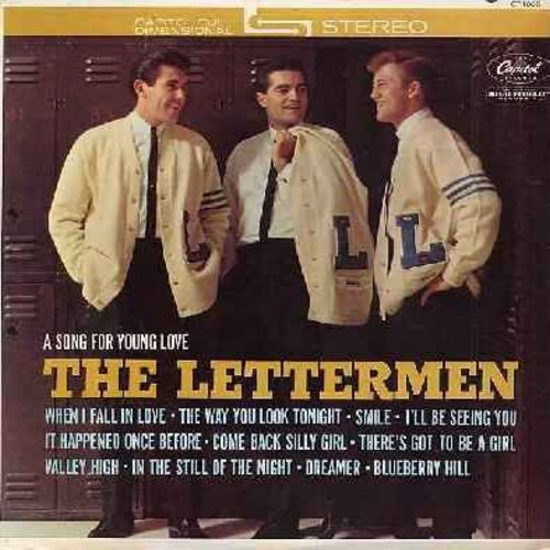 Lettermen - A Song For Young Love: When I Fall In Love, The Way You Look Tonight, Blueberry Hill, In The Still Of The Night (Vinyl STEREO LP record) - EX8/VG7 - LP Records