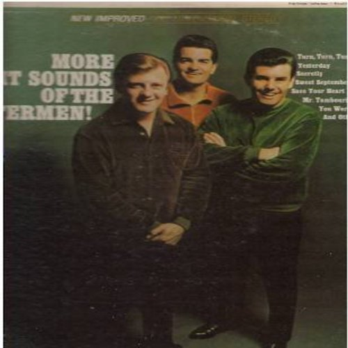 Lettermen - More Hit Sounds Of The Lettermen: Secretly, Turn Turn Turn, Yesterday, Mr. Tambourine Man, Save Your Heart For Me, Yesterday, Blue Velvet (Vinyl STEREO LP record) - EX8/EX8 - LP Records