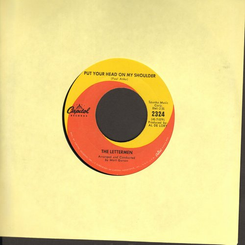 Lettermen - Put Your Head On My Shoulder/Mary's Rainbow  - EX8/ - 45 rpm Records