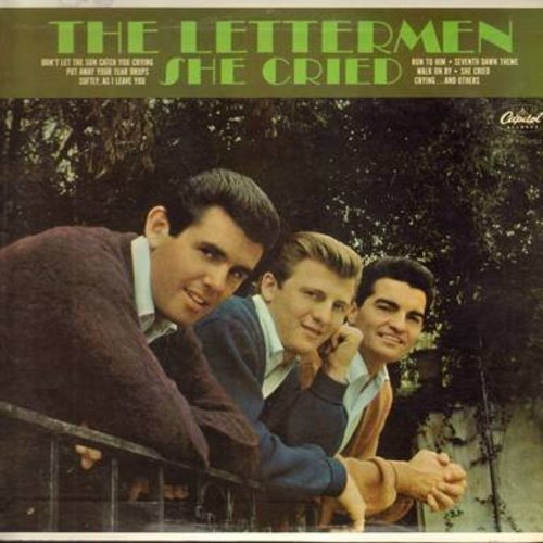 Lettermen - She Cried: Softly As I Leave You, Run To Him, Crying, Are You Lonesome Tonight (Vinyl MONO LP record) - VG7/VG7 - LP Records