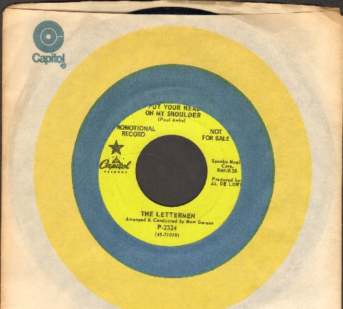 Lettermen - Put Your Head On My Shoulder/Mary's Rainbow (MINT condition DJ advance pressing with Capitol company sleeve) - M10/ - 45 rpm Records