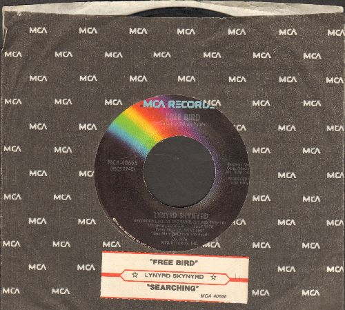 Lynyrd Skynyrd - Free Bird/Searching (with juke box label and MCA company sleeve) - VG7/ - 45 rpm Records