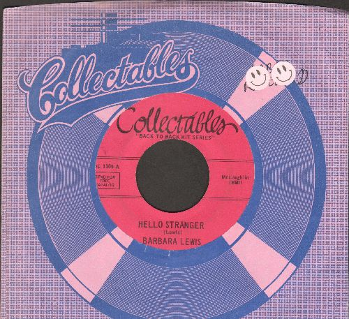 Lewis, Barbara - Hello Stranger/Baby I'm Yours  (double-hit re-issue with Collectables company) - VG7/ - 45 rpm Records