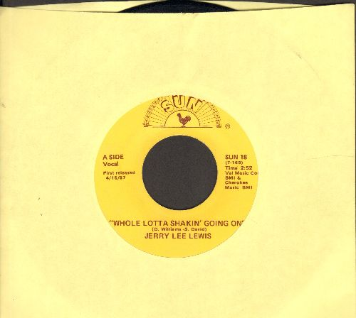 Lewis, Jerry Lee - Whole Lot Of Shakin' Going On/It'll Be Me (authentic-looking re-issue) - EX8/ - 45 rpm Records