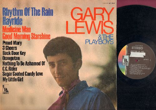 Lewis, Gary & The Playboys - Rhythm Of The Rain: Hayride, Good Morning Starshine, Proud Mary, C. C. Rider (Vinyl STEREO LP record) - EX8/VG7 - LP Records