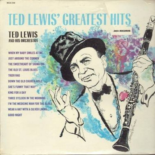Lewis, Ted & His Orchestra - Ted Lewis' Greatest Hits: Tiger Rag, When My Baby Smiles At Me, Just Around The Corner, King For A Day, Down The Old Church Aisle (Vinyl LP record, SEALED, never opened!) - SEALED/SEALED - LP Records
