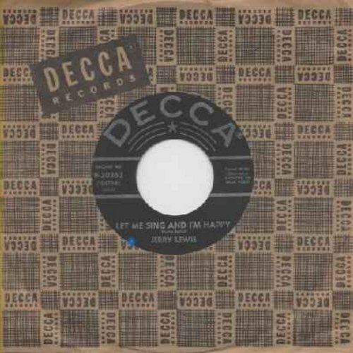 Lewis, Jerry - Let Me Sing And I'm Happy/It All Depends On You (with original company sleeve) - EX8/ - 45 rpm Records