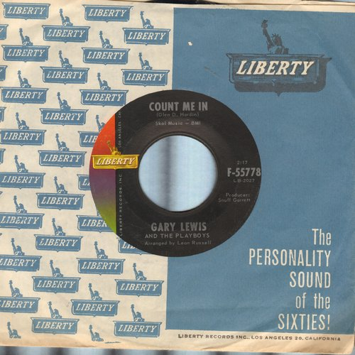 Lewis, Gary & The Playboys - Count Me In/Little Miss Go-Go (with Liberty company sleeve) - EX8/ - 45 rpm Records
