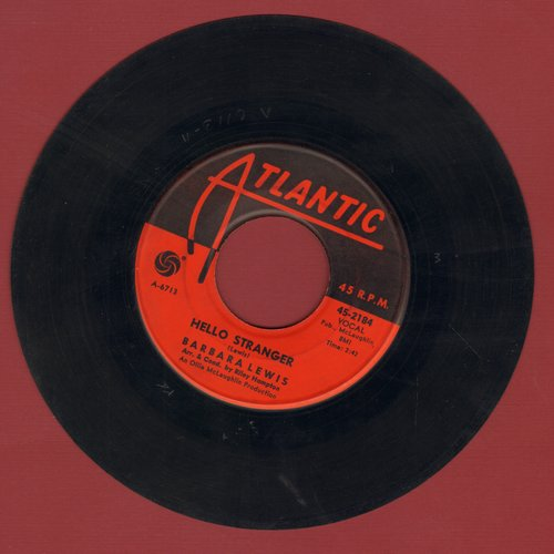 Lewis, Barbara - Hello Stranger/Think A Little Sugar  - VG6/ - 45 rpm Records