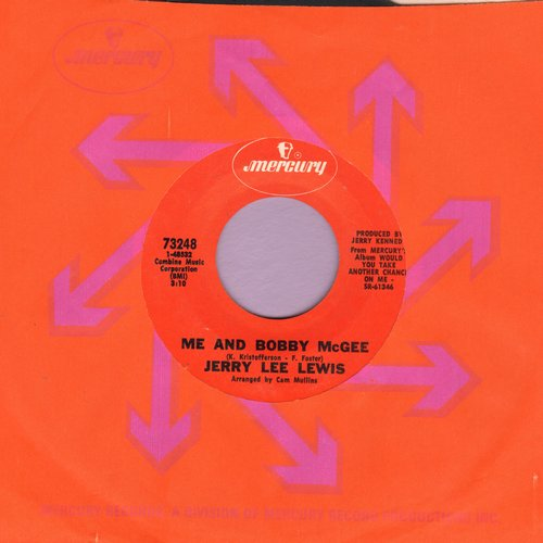 Lewis, Jerry Lee - Me And Bobby McGee/Would You Take Another Chance On Me? - NM9/ - 45 rpm Records